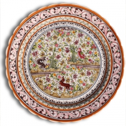 ASK 7237 Portuguese majolica painted plate