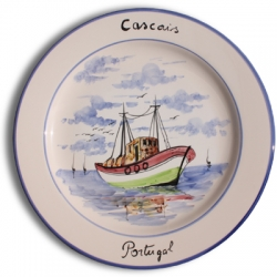 ASK 7238 Portuguese majolica painted plate