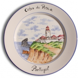 ASK 7241 Portuguese majolica painted plate