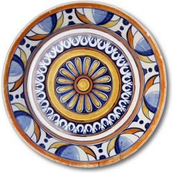 ASK 7243 Portuguese majolica painted plate