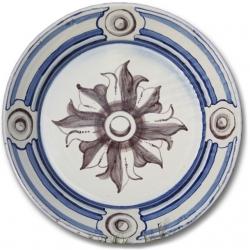 ASK 7244 Portuguese majolica painted plate