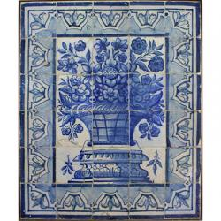 8007 Portuguese antique tiles mural XVIII