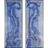 8008 Portuguese antique tiles mural XVII