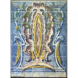 8010 Portuguese antique tiles mural XVIII