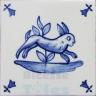 ATD003 XVII Century Antique Blue Drawings