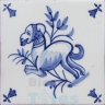 ATD007 XVII Century Antique Blue Drawings
