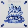 ATD011 XVII Century Antique Blue Drawings