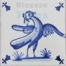 ATD013 XVII Century Antique Blue Drawings