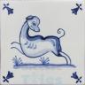 ATD015 XVII Century Antique Blue Drawings