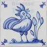 ATD017 XVII Century Antique Blue Drawings