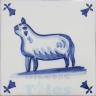 ATD021 XVII Century Antique Blue Drawings