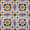 AVK6007 Antique Arab enameled tiles 14cm