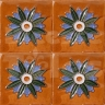 AVK6019 Antique Arab enameled tiles 10cm