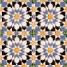 AVK6024 Antique Arab enameled tiles 14cm