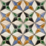 AVK6025 Antique Arab enameled tiles 14cm