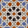 AVK6026 Antique Arab enameled tiles 14cm