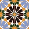 AVK6027 Antique Arab enameled tiles 14cm