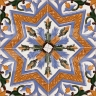 AVK6029 Antique Arab enameled tiles 14cm