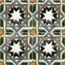 AVK6031 Antique Arab enameled tiles 14cm