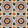 AVK6032 Antique Arab enameled tiles 14cm
