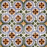 AVK6033 Antique Arab enameled tiles 14cm