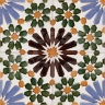 AVK6037 Antique Arab enameled tiles 14cm