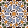 AVK6039 Antique Arab enameled tiles 14cm