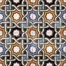 AVK6044 Antique Arab enameled tiles 14cm