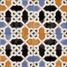 AVK6050 Antique Arab enameled tiles 14cm