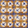 AVK6053 Antique Arab enameled tiles 14cm