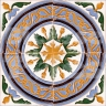 AVK6054 Antique Arab enameled tiles 14cm