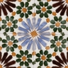 AVK6058 Antique Arab enameled tiles 14cm