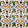 AVK6059 Antique Arab enameled tiles 14cm
