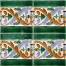 AVK6065 Antique Arab enameled tiles 14cm