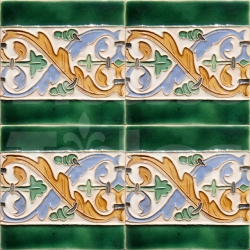 AVK6066 Antique Arab enameled tiles 14cm
