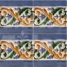 AVK6067 Antique Arab enameled tiles 14cm