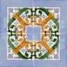 AVK6068 Antique Arab enameled tiles 14cm