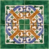 AVK6070 Antique Arab enameled tiles 14cm