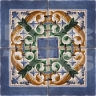 AVK6071 Antique Arab enameled tiles 14cm