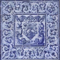 8009 Portuguese antique tiles mural XVII