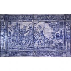 8002 Portuguese antique tiles panel XVII