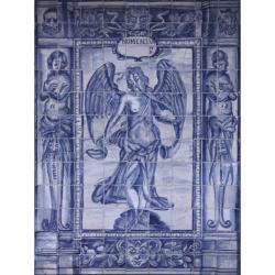 8003 Portuguese antique tiles panel XVII