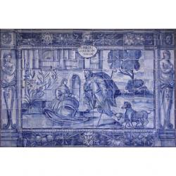 8004 Portuguese antique tiles panel XVII