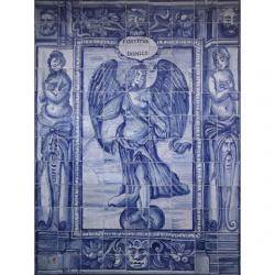 8005 Portuguese antique tiles panel XVII