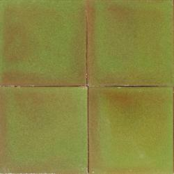 3508 Portuguese traditional hand painted ceramic ANTIQUE OLD OLIVE GREEN tile