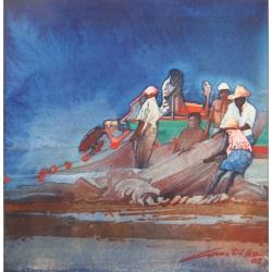 Joaquim Canotilho watercolour COA 1008