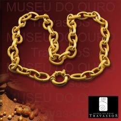 Portuguese 19.2K Gold Filigree Necklace Chain