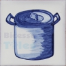 KTW009 Blue White Kitchenware