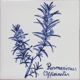 Blue and white Aromatic Herbs Collection - Portuguese traditional decorative tiles azulejos