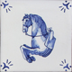Blue and white Riding Horses Collection - Portuguese traditional decorative tiles azulejos